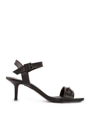Sole Sisters Sole Sisters Kadın Kısa Topuklu Siyah Sandalet Siyah